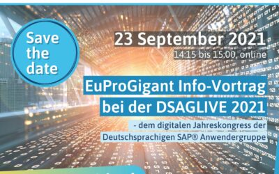 𝗦𝗔𝗩𝗘 𝗧𝗛𝗘 𝗗𝗔𝗧𝗘 | Info presentation @ DSGLIVE 2021 – EuProGigant